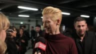 Tilda Swinton backstage at Lanvin A/W 2012 on March 02 2012 in Paris France