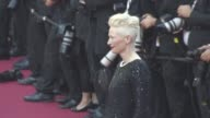 Tilda Swinton Bong Joonho at Cannes Film Festival 70th Celebration Red Carpet at Palais des Festivals on May 23 2017 in Cannes France
