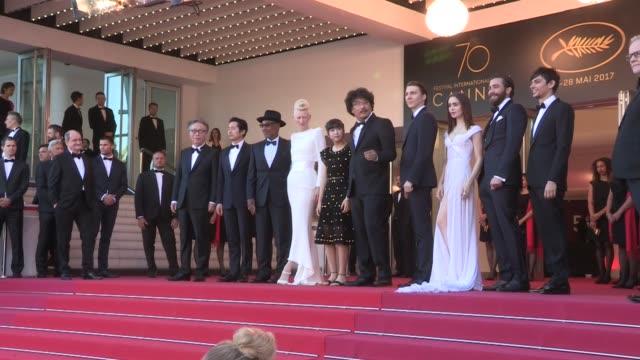 Tilda Swinton Jake Gyllenhaal Lily Collins Paul Dano Steven Yeun Director Bong Joon Ho Giancarlo Esposito Byun Hee bong and more on the red carpet...