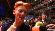 Tilda Swinton on how the Berlinale can give lesser known films the exposure they need to get a wider audience at the Opening Red Carpet/Tuan Yuan...