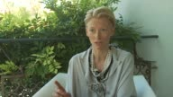 Tilda Swinton on speaking in Italian with a Russian accent in the movie at the Io Sono L'Amore Interviews Venice Film Festival 2009 at Venice