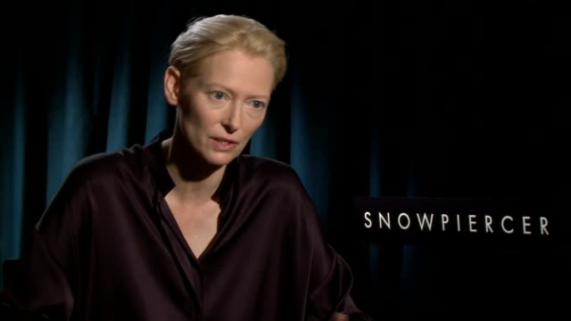 INTERVIEW Tilda Swinton on the central theme of the film how everyone is going to take something different away from it at 'Snowpiercer' Los Angeles...