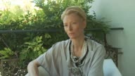 Tilda Swinton on the Italian families depicted in the movie at the Io Sono L'Amore Interviews Venice Film Festival 2009 at Venice