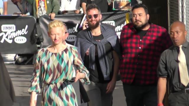 Tilda Swinton outside Jimmy Kimmel Live in Hollywood in Celebrity Sightings in Los Angeles