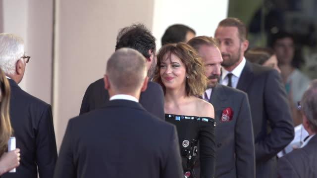 Tilda Swinton Ralph Fiennes Dakota Johnson Matthias Schoenaerts SLOMO at 'A Bigger Splash' Red Carpet 72nd Venice Film Festival at Palazzo del Cinema...