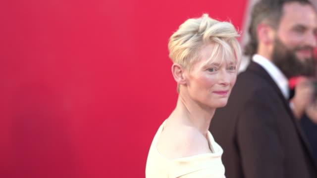Tilda Swinton SLOMO at 'A Bigger Splash' Red Carpet 72nd Venice Film Festival at Palazzo del Cinema on September 06 2015 in Venice Italy