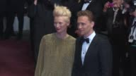 Tilda Swinton Tom Hiddleston at 'Only Lovers Left Alive' Red Carpet on 5/25/13 in Cannes France