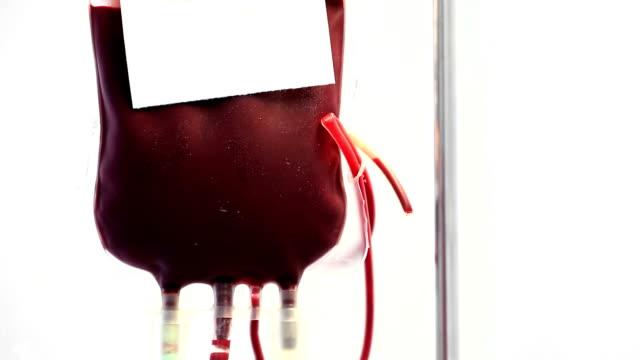 HD Tilt down crane shot: Blood transfusion