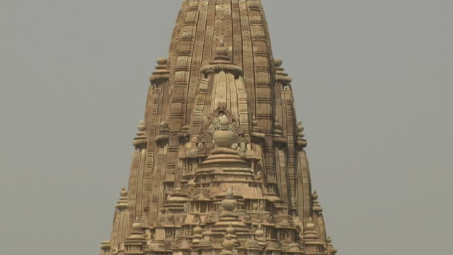 Tilt down khajuraho temple chhatarpur madhya pradesh