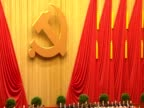 Tilt down over Chinese delegates at 18th Communist Party Congress held to elect the new Party leaders
