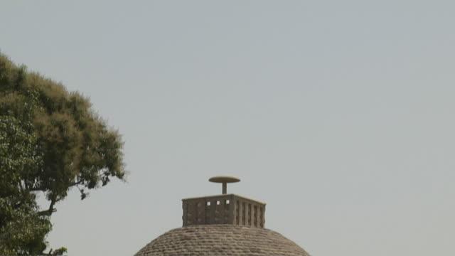Tilt down sanchi stupa rear side sanchi madhya pradesh