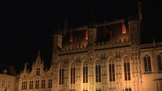 Tilt Down Shot City Hall Bruges West Flanders Belgium