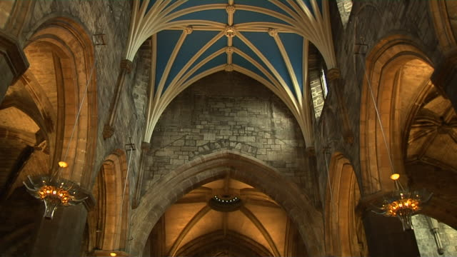 Tilt Down Shot Interior Giles Cathedral Edinburgh United Kingdom