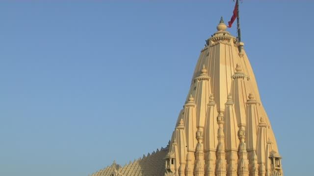 Tilt down somnath temple exterior veraval gujarat