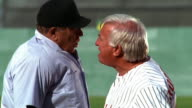 MS tilt down tilt up PROFILE baseball manager + umpire arguing face to face