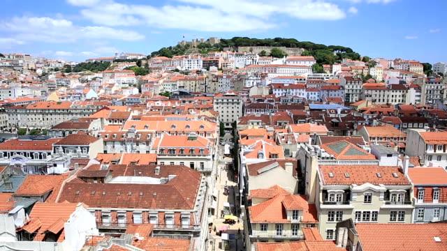 HD Tilt: Lisbon aerial view Portugal