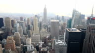 HD tilt: New York City Skyline aerial view