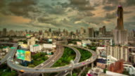 Tilt Shift of Expressway and Highway Aerial View