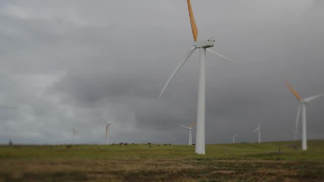 Tilt Shift-Windpark-Turbine