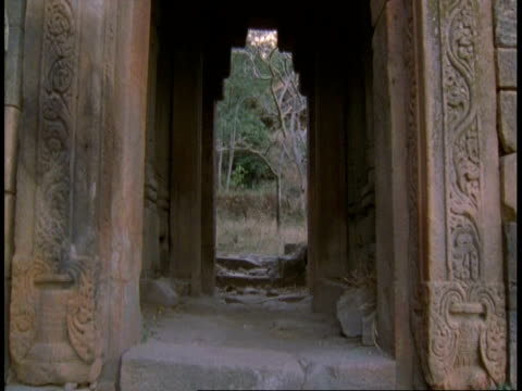Tilt up archway of Temple, Bandhavgarh National Park, India