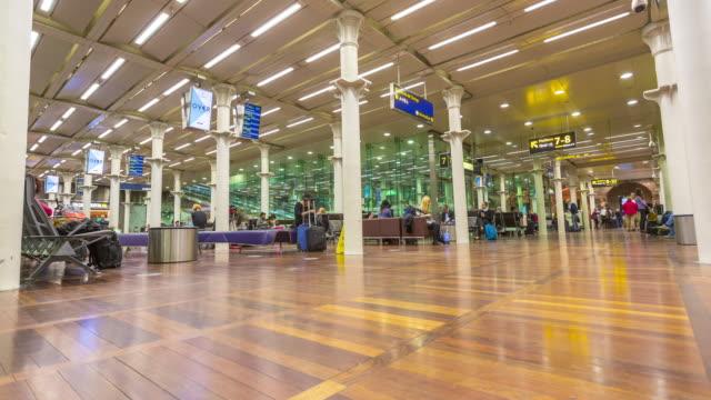T/L Tilt up Eurostar Terminal at St Pancras International Train Station in London.