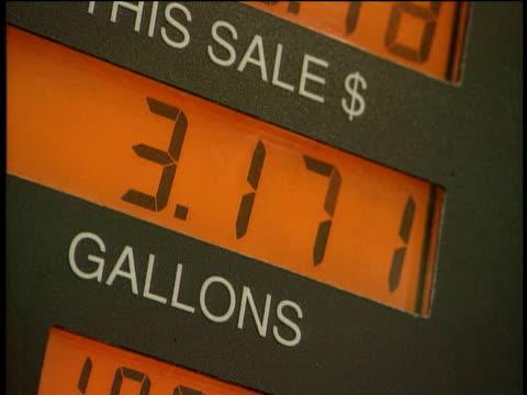 Tilt up LCD of petrol pump in use Alaska