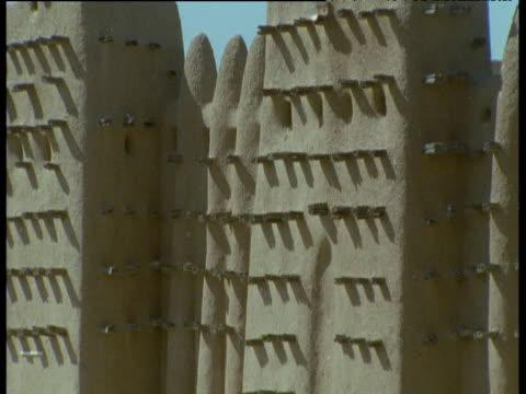 Tilt up mud-brick Great Mosque of Djenne, Mali