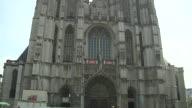 Tilt Up Shot Antwerp Church Belgium
