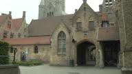 Tilt Up Shot Bruges Church Bruges West Flanders Belgium