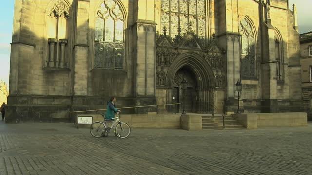 Tilt Up Shot Giles Cathedral Edinburgh United Kingdom