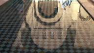 Tilt up shot of The Ben Youssef Madrasa in Marrakesh