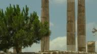 Tilt Up Shot Temple of Hercules Amman Governorate Jordan