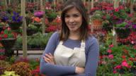 Tilt view of empowered garden owner at a garden center