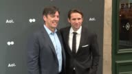Tim Armstrong and Jimmy Maymann at AOL NewFronts 2016 at Seaport District NYC on May 03 2016 in New York City