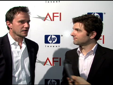 Tim DeKay and Adam Scott on 'Tell Me You Love Me' being honored and favorite film genre at the 2007 AFI Awards Honors Creative Teams at Four Seasons...