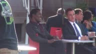 Tim DeKay filming a scene on the set of the TV Series 'White Collar' in Union Square Park Celebrity Sightings in New York on June 30 2014 in New York...