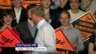 Tim Farron elected leader of the Liberal Democrats ENGLAND London INT Tim Farron MP speech SOT So I get to join get to lead the Party I joined as a...