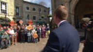 Tim Farron greeting supporters in Cornwall