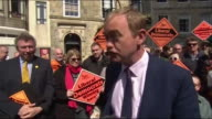Tim Farron saying Theresa May calling for a snap general election gives the people of Britain a chance to 'change the direction of this country' and...