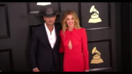 Tim McGraw and Faith Hill at 59th Annual Grammy Awards Arrivals at Staples Center on February 12 2017 in Los Angeles California 4K