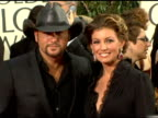 Tim McGraw and Faith Hill at the 2006 Golden Globe Awards Arrivals at the Beverly Hilton in Beverly Hills California on January 16 2006