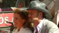 Tim McGraw and Faith Hill at the Dediction of Tim McGraw's Star on the Walk of Fame at Hollywood in Hollywood California on October 17 2006