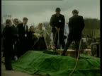 Tim Parry family hate mail EXT/April 1993 Warrington MS Tim's coffin lowered into grave