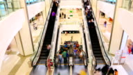 HD Timalapse: Shopping mall pedestrian