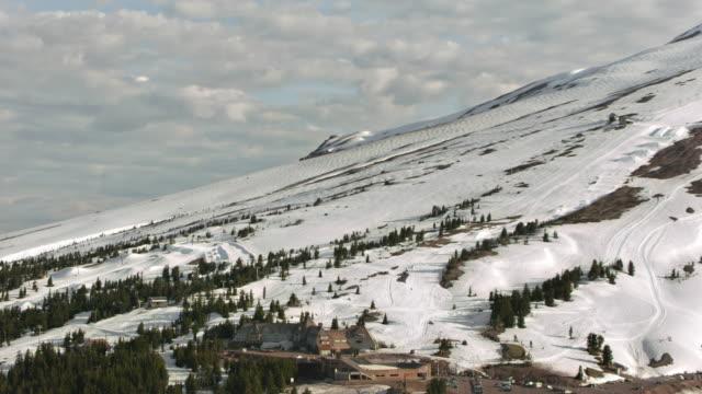 AERIAL Timberline Lodge on Mount Hood