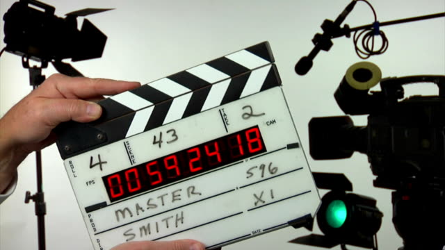 Time code film slate - 3 clapps