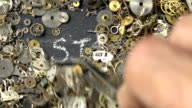 Tijd Concept Via uurwerk onderdelen