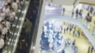 4K Time Lapse 4096x2160 : The crowd at shopping mall use escalator and  walking around with ProRes 422HQ (Blur content).