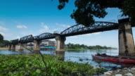 Time Lapse 4K: Bridge Over The River Kwai, Kanchanaburi, Thailand