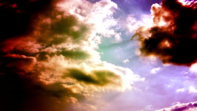 Time Lapse: Astratto di nuvole